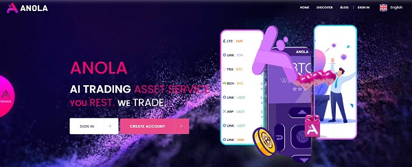 Anola.io——顶尖的人工智能交易资产服务